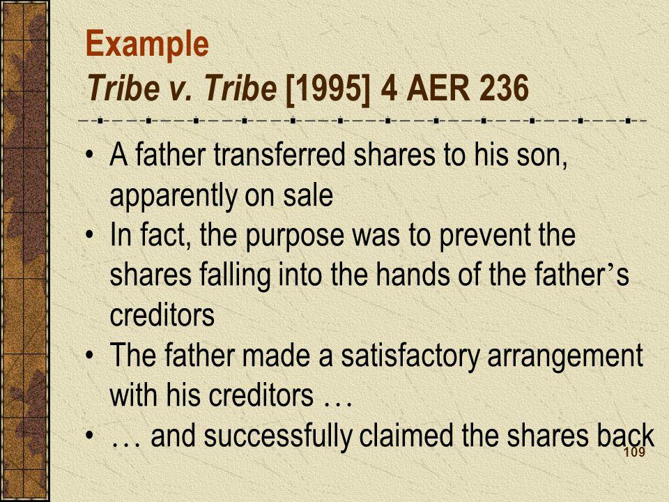 Example Tribe v. Tribe [1995] 4 AER 236